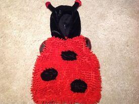 Red & Black Ladybird Costume 9-12mtns