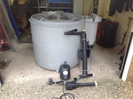 Pond Filter and Accessories