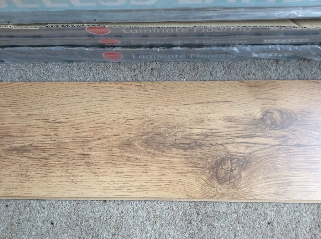 Westco Laminate Flooring In Rustic Oak Colour Approx 10 Sq Metres