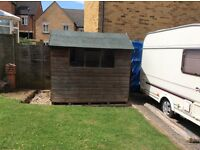 Wooden garden shed 6' x 8' very sturdy, free to collector