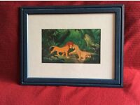 Lion King framed picture