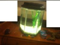 45L hexagonal fish tank
