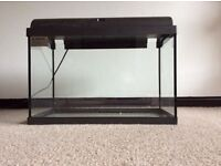 All glass fish tank and filter
