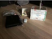 Wii, remote and 10 games