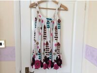 Good quality beautiful floral coloured summer top