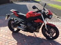 Triumph 765 Street Triple S. Only 567 miles. One mature owner. As new condition.