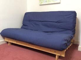 Double futon sofa bed