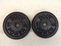 4 x 5kg Bodypower Standard Cast Iron Weights