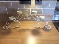 CREAM CANDLE HOLDER ARCH