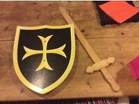 Kids shield and sword