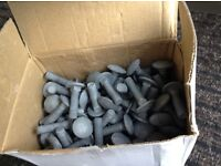 All brand new Cup square bolts galvanised 1000 bolts