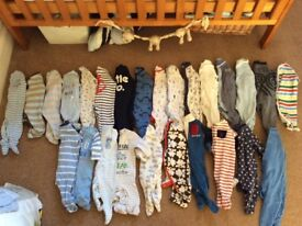 MASSIVE BUNDLE OF 26 BABY GROWS