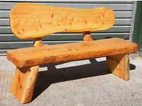 Heavy log bench seats, rustic, very heavy and unique.