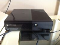 Xbox 360 console for sale with 7 games, two controllers,thrustmaster steering wheel and pedals