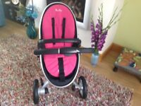 Silver Cross Surf Pram and Mosses Basket.