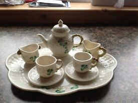 Belleek Miniature Tea Set