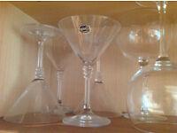 Set of crystal cocktail glasses