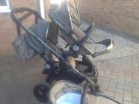 ICandy Peach Blossom Twin with lower carrycot