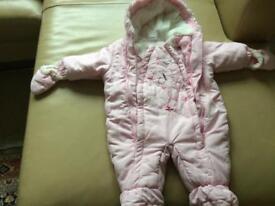 Baby snow suit.