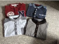 6 boys Polo shirts & 1 boys long sleeved shirt