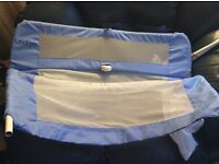 Lindam Blue excellent condition bed guard.