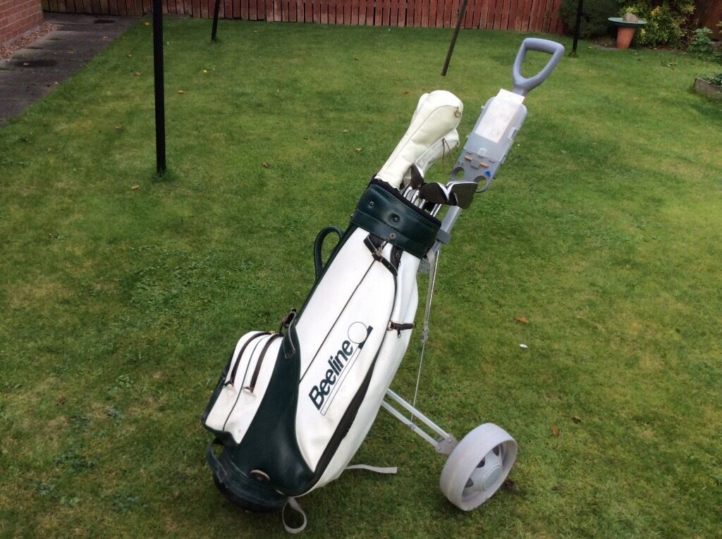 "10 ladies golf clubs""Ryder Lady"" plus golf bag and trolley"