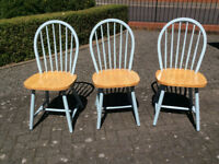 3no Solid Wooden Chairs
