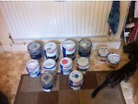 Various paint & varnish £2-£4 each item