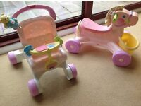 Fisher Price Musical Pony and Pushchair