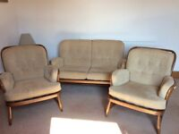 Ercol 2 Seater Sofa and 2 Chairs