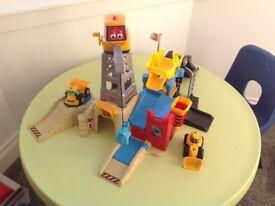 Toy jcb crane set.