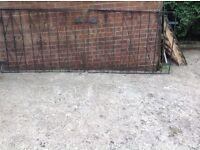 Wrought iron gates large good condition x 3