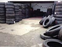 Part worn tyres, bulk clearance mixed sizes job lot.