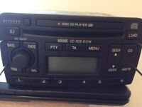 FORD CAR STEREO 6DISC CD PLAYER 6006E RDS EON HEAD UNIT WITH CODE MONDEO FOCUS #232631715834