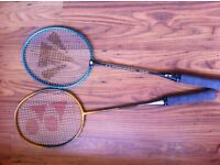 Two Racquets, balls, grips and bag £ 15
