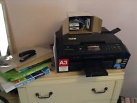 Brother Printer MFC-J5910DW - with extra paper & 6 printer cartridges