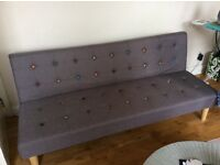 2 Seater Fabric Clic Clac Sofa Bed - futon