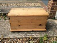 Handmade Pine Toy Box / Blanket Box