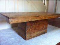PIER Rustic Wooden Chunky Coffee Table