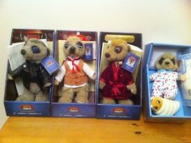 Individual Meerkat Toys - Still in boxes with certificates