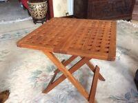 Folding Mahogany Table