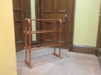 Towel rail in Pine in new condition