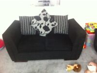 Black and Gray fabric sofa