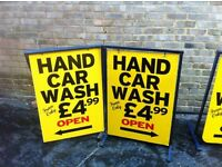 Hand Car Wash signs