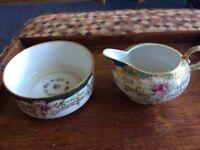 21piece noritaki teaset made in Japan. 6 cups saucers plates, sugar &scream & sandwich plate.