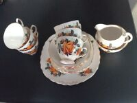 21 piece bone China teaset