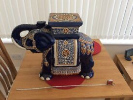 Large ceramic elephant plant stand