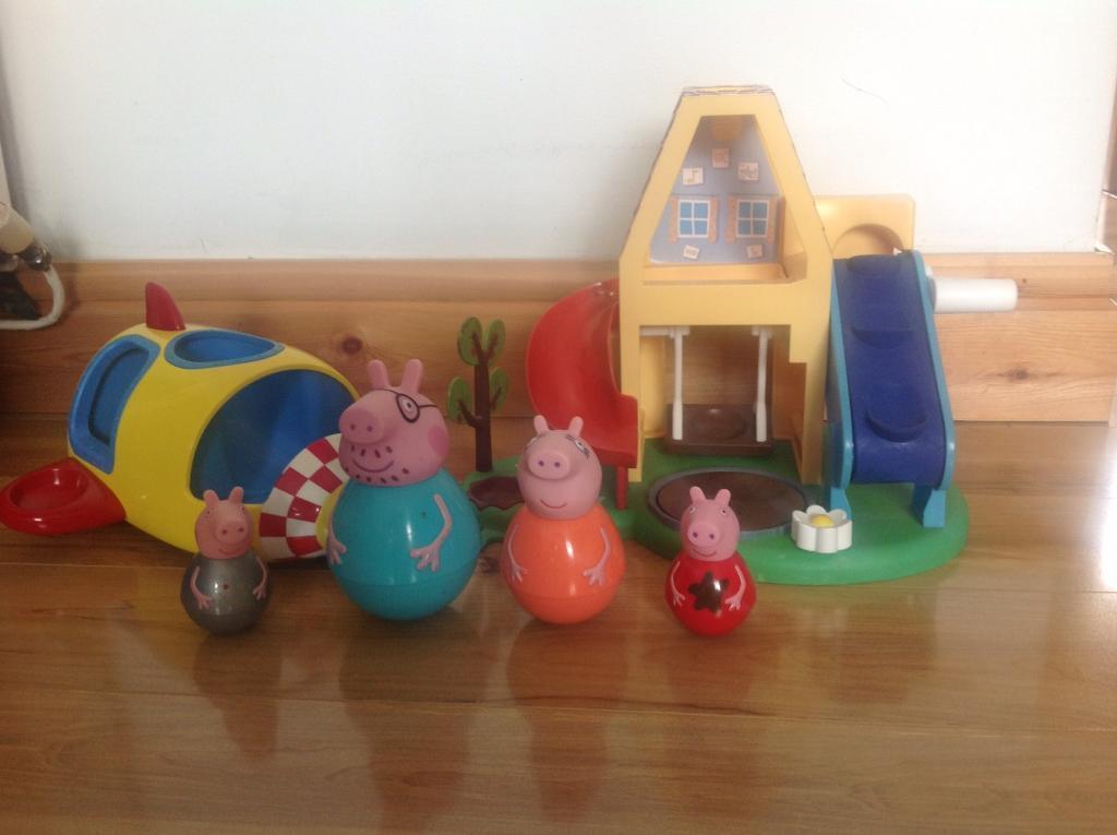 Peppa pig weeble bundle