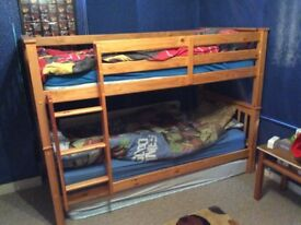 Bunk beds with two mattresses