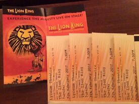THE LION KING 4 STALLS TICKETS Absolute bargain £38 each ON 7TH FEB @ 7.30PM can split 2 x pairs
